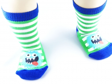 Ewers Stoppersocken mit Monster / ABS-Vollsohle